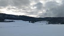 Po snežení neďaleko Svitu