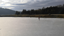 Zimné prírodné klzisko - Rybník