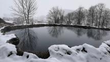 Jazierko Kráter v zime
