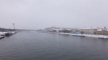Dnešné ranné sneženie v Bratislave