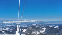 Pohľad z Kráľovej hole na Vysoké tatry.