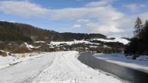 Nižné Ružbachy - rieka Poprad
