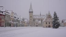 Sneženie v Bardejove