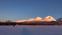 Mrazivé ráno pod Tatrami