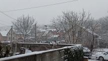 Sneženie v Považskej Bystrici