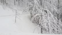 Návrat zimy nad Banskou Bystricou
