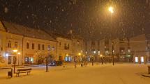 Sneženie v Brezne