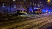 Zásah hasičov po dopravnej nehode