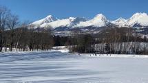 Panorama zasnezenych Tatier