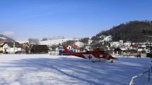 Helikoptéra RZP v Ružbachoch