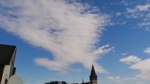 Zaujímavé mraky nad Bardejovom