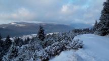 Prvý jarný sneh na Šumiaci