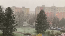 Aprílový sneh v Ružinove