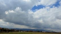 časozber oblačnosti v okolí Popradu