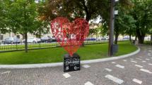 Srdce, park Levoča