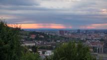 Ranné búrky v okolí Bratislavy