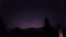Nočná búrka v Brezne