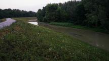 Vyliaty Dunaj pod petržalskou hrádzou