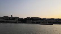 Západ slnka pri Dunaji Budapešť