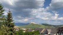 Spišský hrad z Biskupskej záhrady