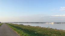 Ráno pri Čuňovskej priehrade