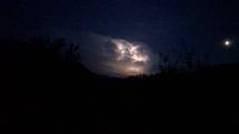 Búrkové mračno nad hrebeñom Volovskÿch