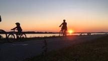 Západ slnka nad Dunajom v Hamuliakove