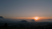 Vychod slnka na Ruzomberskej Kalvarii