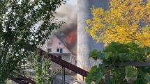 požiar blízko novej cvernovky