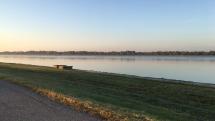 Prvé mrazivé ráno pri Dunaji