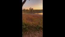 zapad slnka nad Vachalkovym rybnikom v S