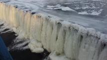 Košice - zamrznutý splav