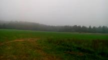 Na Českomoravské vrchovině dnes hmla