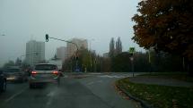 Ranná hmla v Prešove
