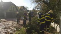 Zásah hasičů v Klánovicích