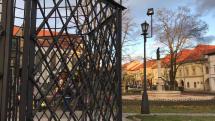 Fontána so sochou dobročinnosti v Levoči
