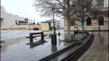Príprava Vianočného mestečka v Nitre
