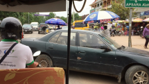 Jazda ulicami Siem Reap, v Kambodži