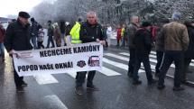 Blokáda cesty v Banskej Bystrici Šalková