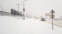 Snehová kalamita v Brezne