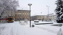 Husté snežene v Brezne