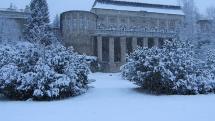 Bohatá snehová nádielka - Kúpele Vyšné Ružbachy - kolonáda