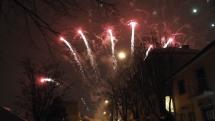 Do mesta Poprad v utorok podvečer zavítal svätý Mikuláš s parádnym ohňostrojom
