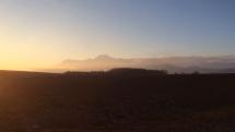 Slnečné ale studené počasie pod Tatrami