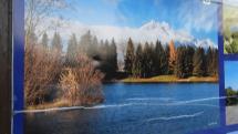 Belianský zamrznutý rybník pod Vysokými Tatrami