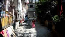Sobotní kung-fu chvilka v uličce Vzácného klidu, Čína