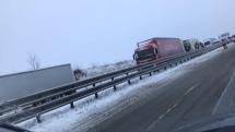 Hromadná havárie na D1 + kolona směr Vyškov-Brno