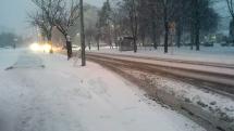 Sneženie v Trenčíne