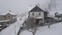 Zpomalené intenzivní sněžení - Krušné hory