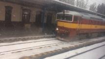 Silne sneženie v okoli Vrútok